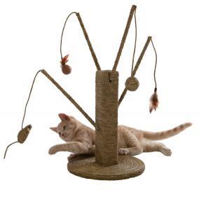когтеточка с удочками для кошек